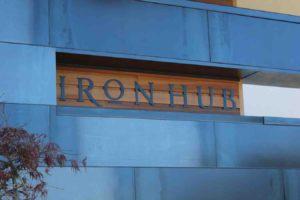 iron Hub Winery Tasting Room Sign